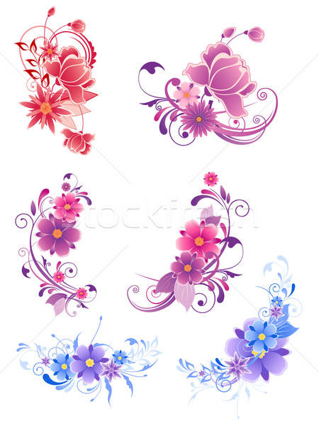 floral decorative elements  Stock photo © Artspace