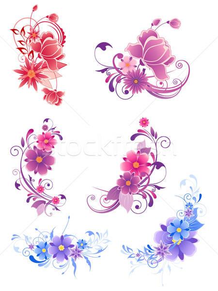 Floral décoratif fleurs ornement design Photo stock © Artspace