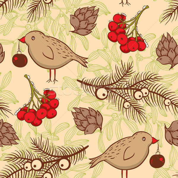 Seamless pattern with birds Stock photo © Artspace