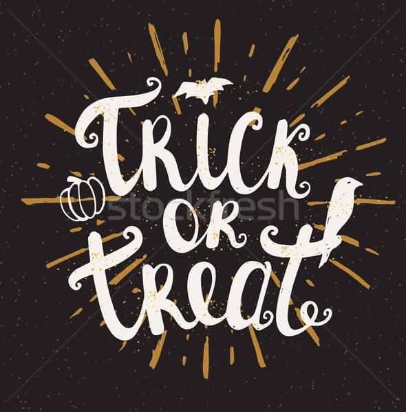 Trick or treat Halloween card Stock photo © Artspace