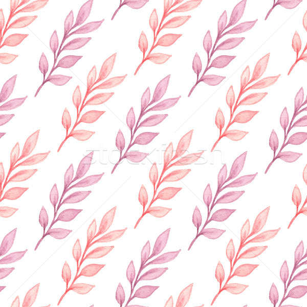 Couleur pour aquarelle floral modèle dessinés à la main rose Photo stock © Artspace