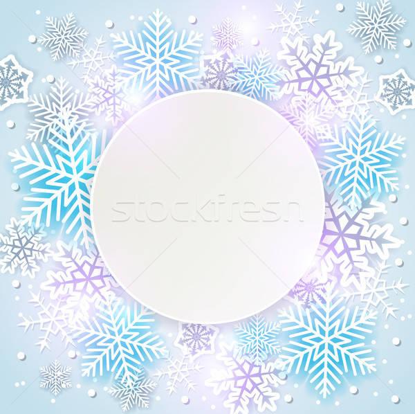 Wakacje płatki śniegu biały niebieski streszczenie Zdjęcia stock © Artspace