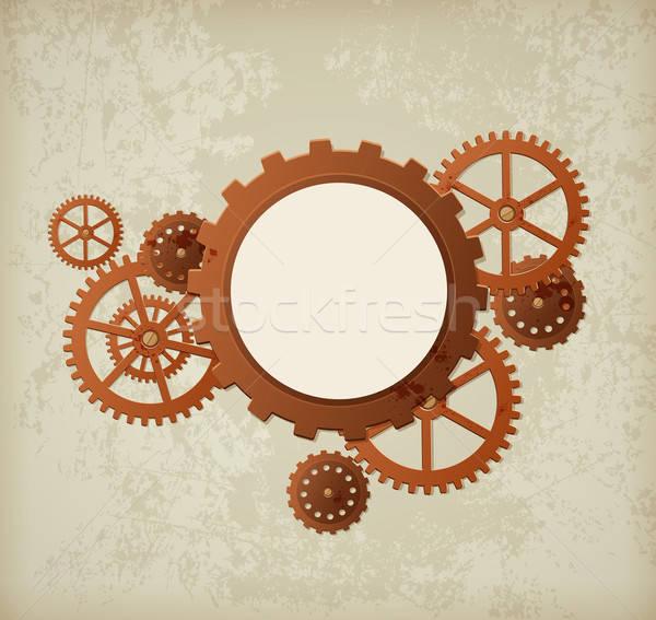 Retro ipari vektor stílus steampunk háttér Stock fotó © Artspace