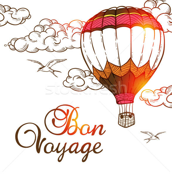 Travel background with air balloon Stock photo © Artspace