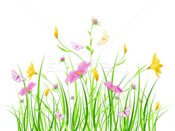 Floral background with pink flowers Stock photo © Artspace