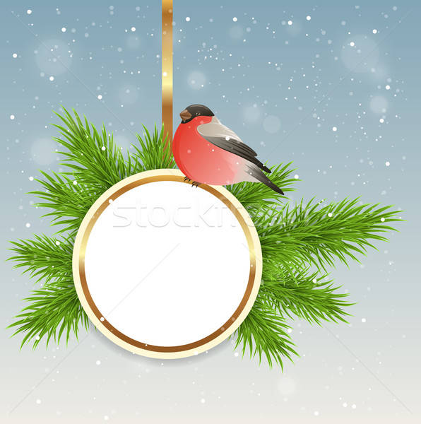 Christmas background with round banner Stock photo © Artspace