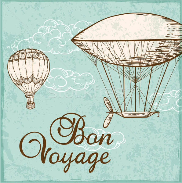 Vintage background with air balloons Stock photo © Artspace