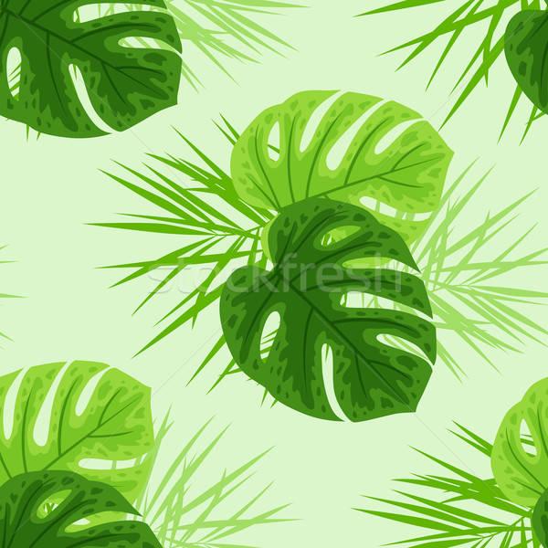 Yeşil tropikal yaprakları vektör orman Stok fotoğraf © Artspace