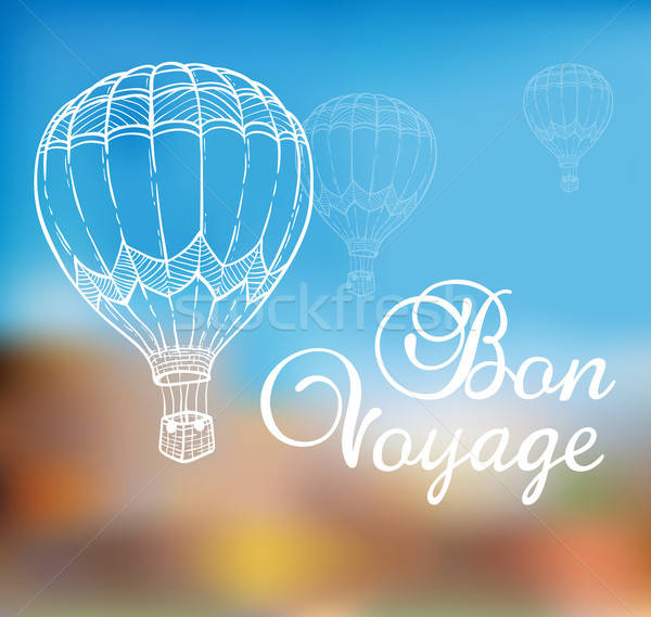 Background with air balloon Stock photo © Artspace