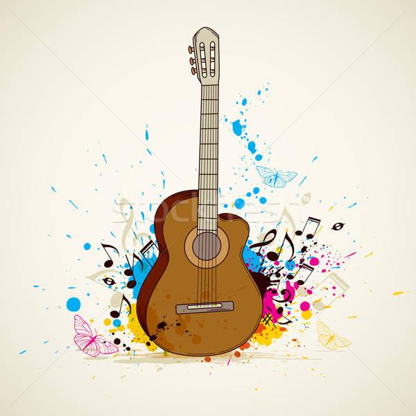 Zene gitár absztrakt vektor terv háttér Stock fotó © Artspace