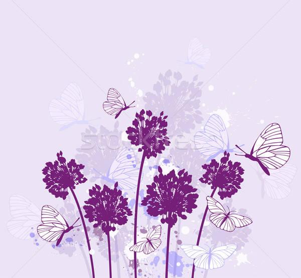 Violet decoratief natuur vector bloem Stockfoto © Artspace