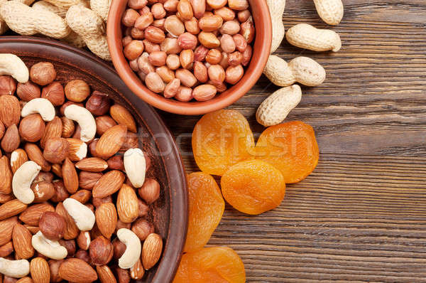 Nuts and dried apricots Stock photo © Artspace