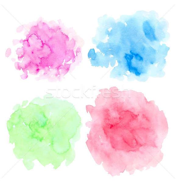 Set of abstract bright watercolor blots Stock photo © Artspace