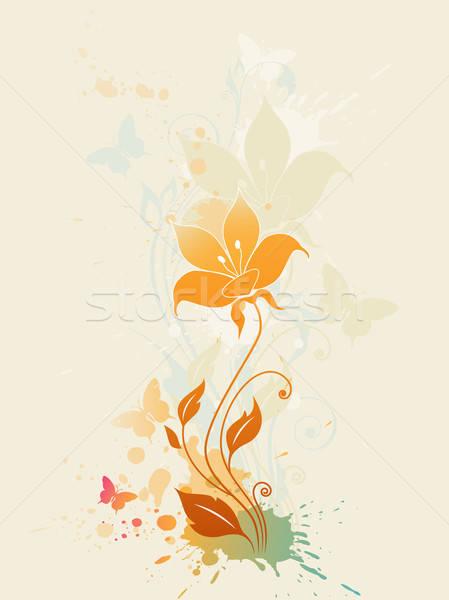 Abstrato floral flor primavera borboleta natureza Foto stock © Artspace