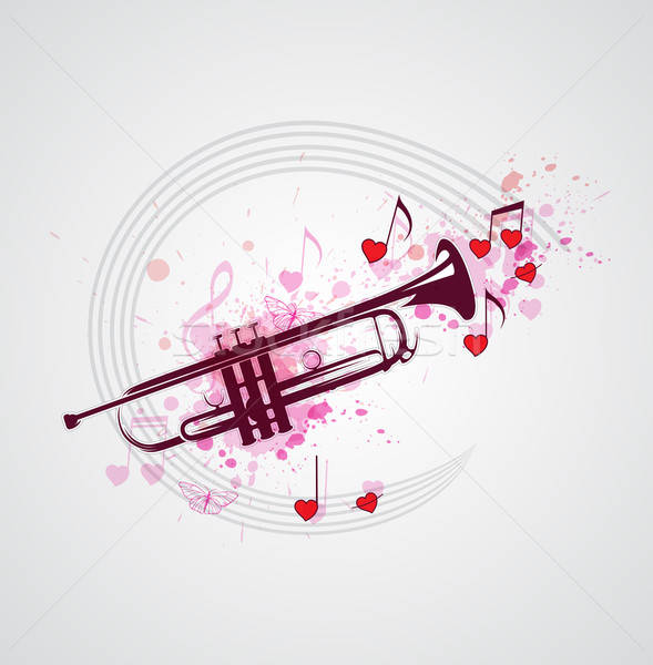 Music background with trumpet Stock photo © Artspace