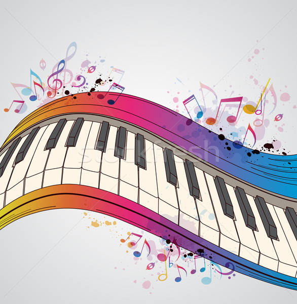 Music background with piano Stock photo © Artspace