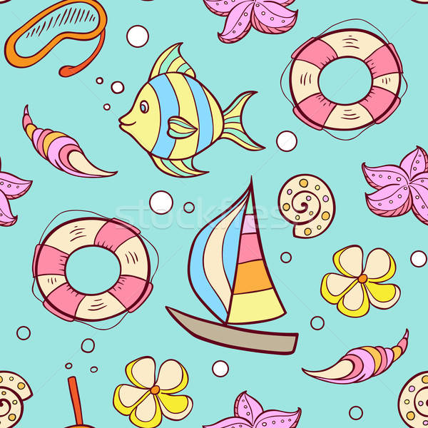 Summer marine seamles pattern Stock photo © Artspace
