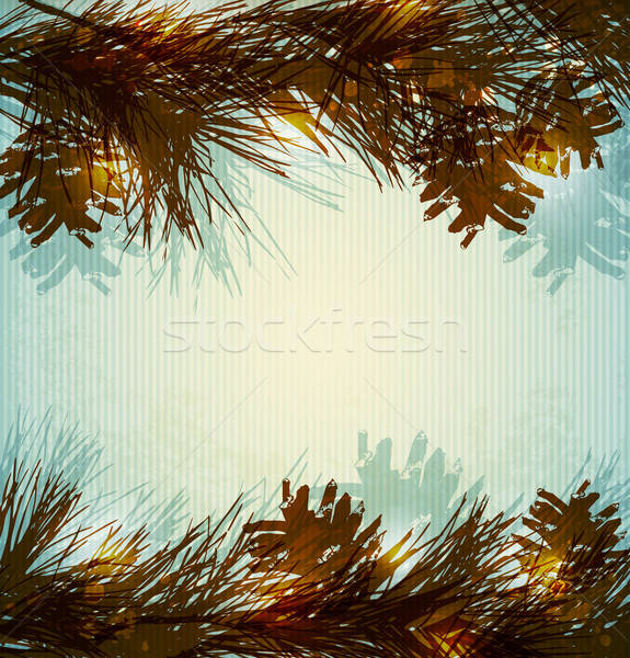Pine branches and cones Stock photo © Artspace
