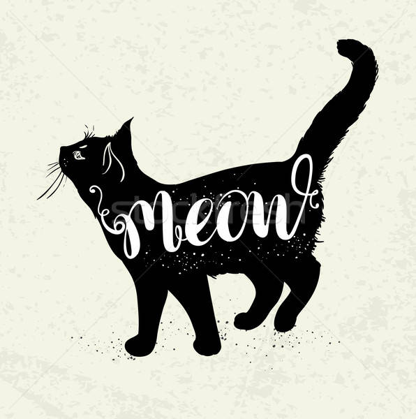 Black cat and lettering Stock photo © Artspace