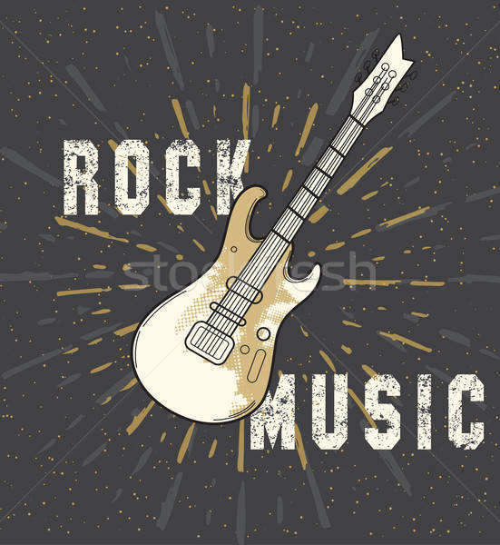 Rock music poster Stock photo © Artspace