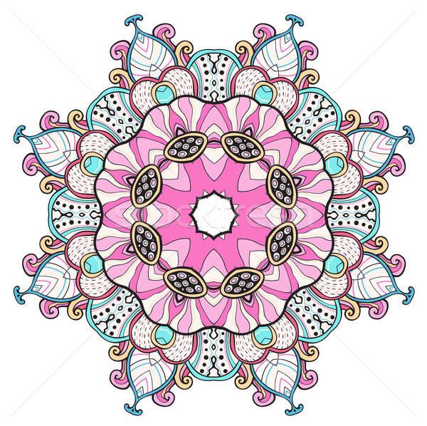 Abstrakten farbenreich orientalisch Ornament Hand gezeichnet Design Stock foto © Artspace