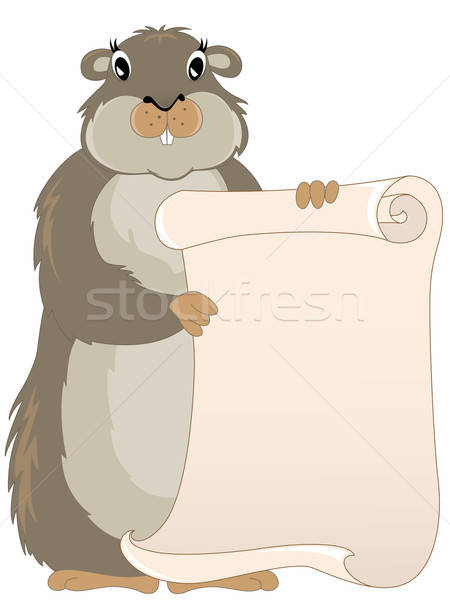 groundhog with scroll Stock photo © Artspace