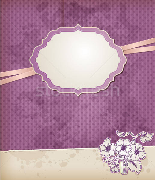 Background with violet flowers Stock photo © Artspace