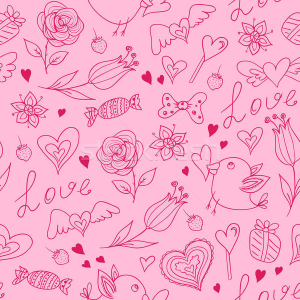 Seamless pattern for Valentine's day Stock photo © Artspace