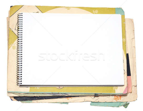 Blank notebook and old paper Stock photo © Artspace