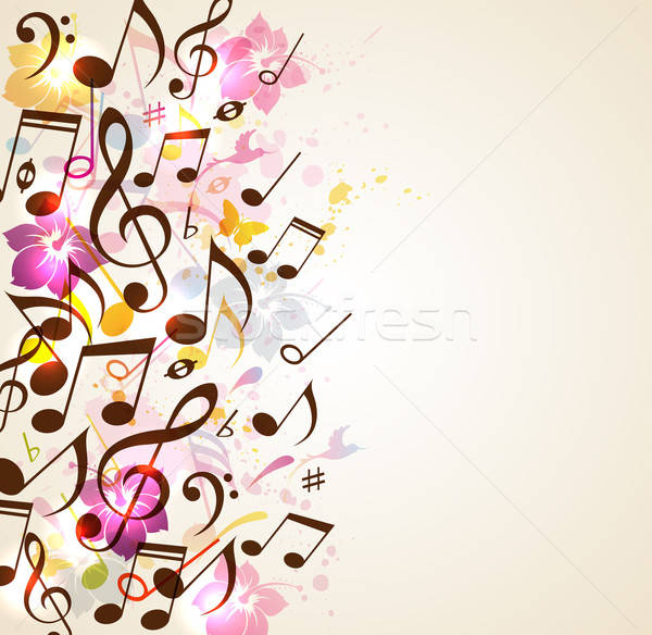 Abstract music background Stock photo © Artspace