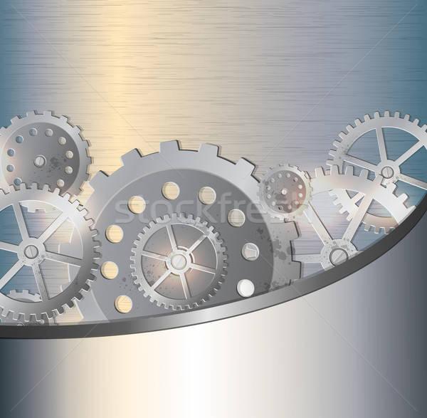 Metallic background with gears Stock photo © Artspace