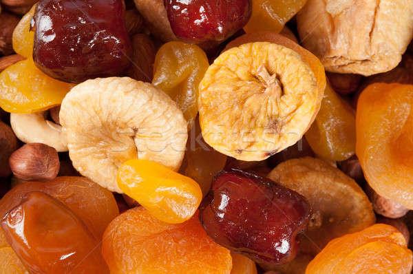 Foto stock: Secas · frutas · nozes · datas · topo · ver
