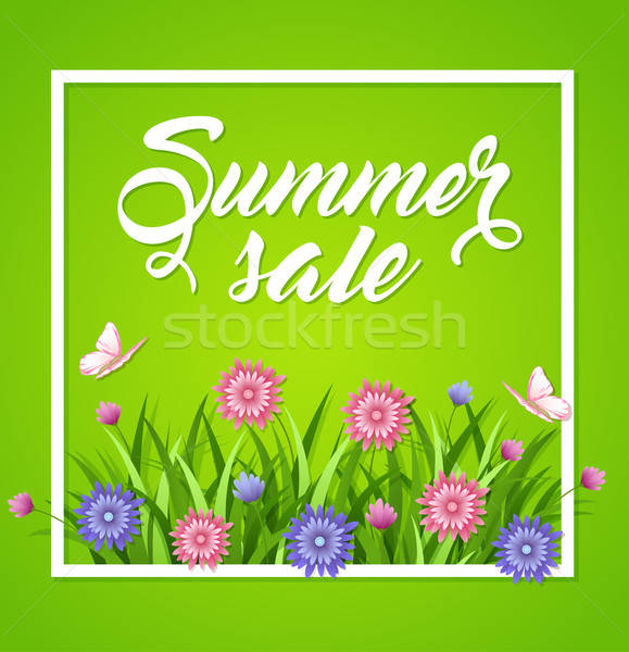 Summer background with flowers Stock photo © Artspace