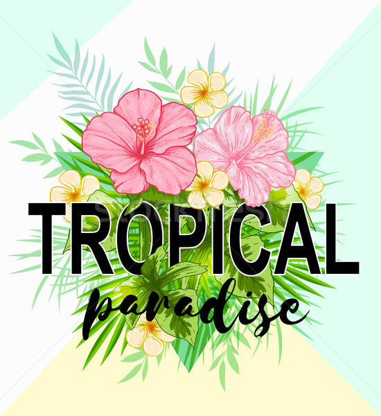 Abstract tropical background Stock photo © Artspace