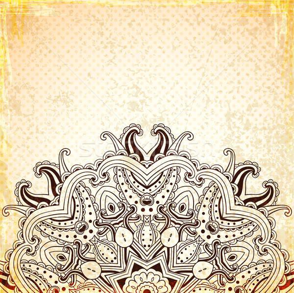 Jahrgang orientalisch Ornament Vektor Hand gezeichnet Illustration Stock foto © Artspace