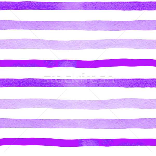 Minta fényes ibolya vonalak fehér vízfesték Stock fotó © Artspace