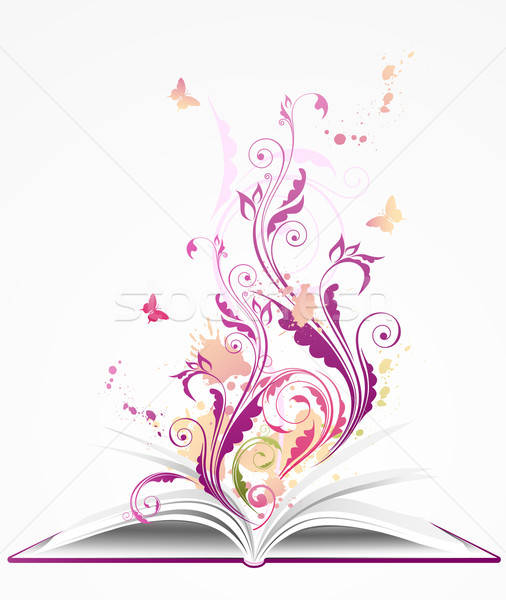 background with open  book Stock photo © Artspace