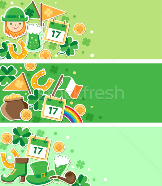 St. Patrick's Day banners Stock photo © Artspace