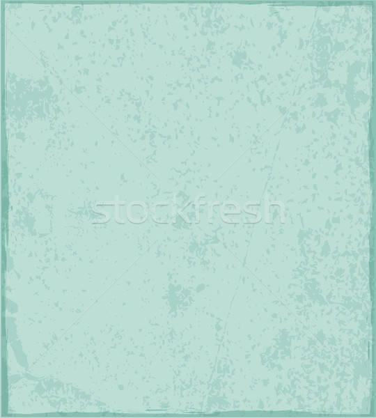 Jahrgang befleckt grünen Textur Papierstruktur Papier Stock foto © Artspace