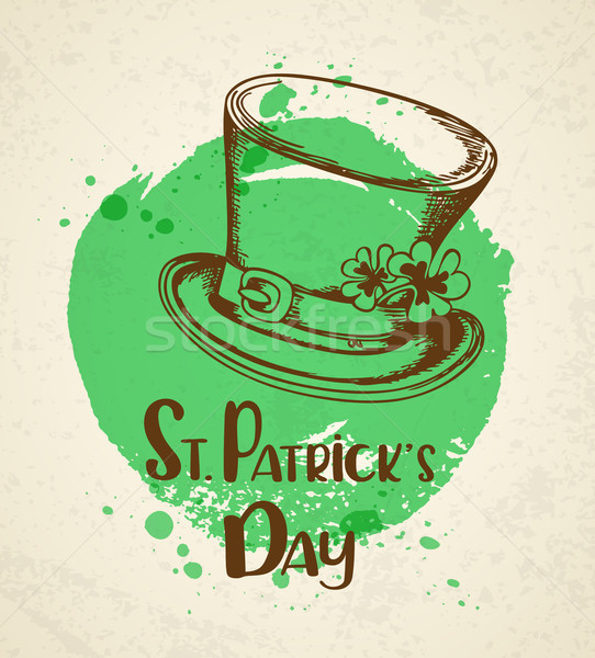 Vintage greeting card for St. Patrick's day Stock photo © Artspace