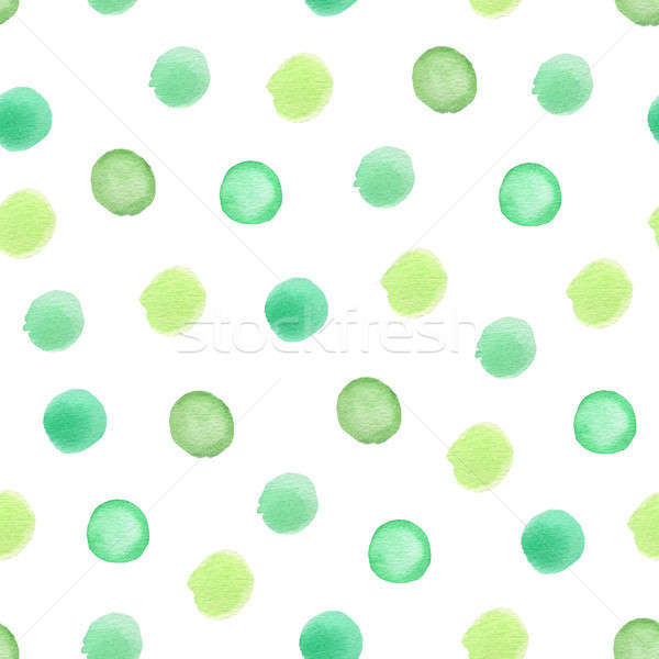 Green seamless pattern with polka dots. Stock photo © Artspace