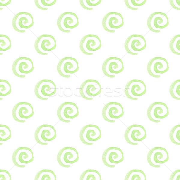 Absztrakt végtelen minta vízfesték zöld terv háttér Stock fotó © Artspace