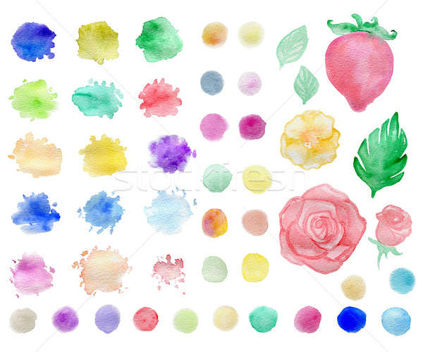Watercolor blots and elements Stock photo © Artspace