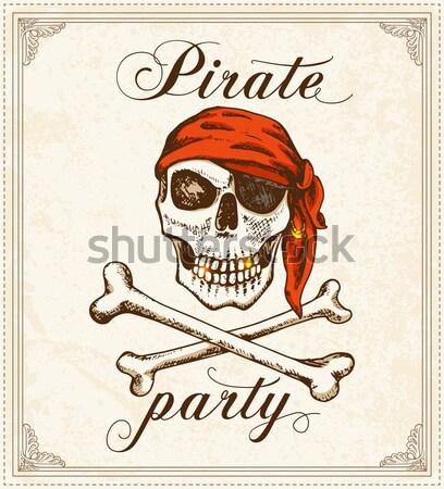 Wapens piraten ingesteld vector vintage Stockfoto © Artspace