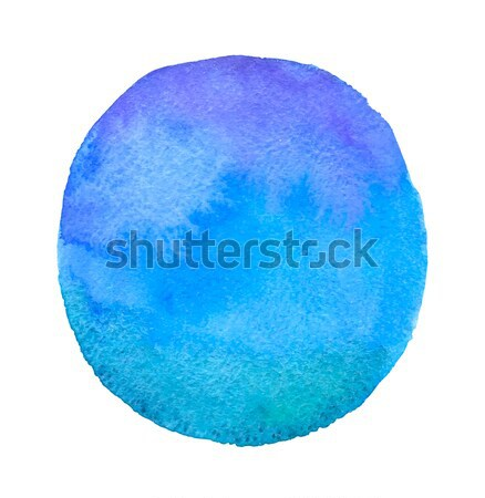 Blue round watercolor blob Stock photo © Artspace