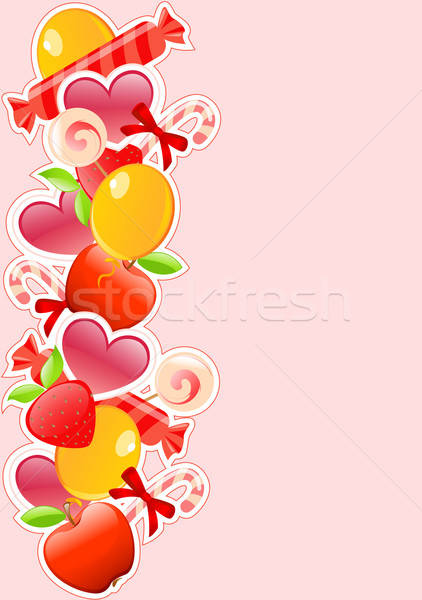 holiday background with candy and fruits Stock photo © Artspace