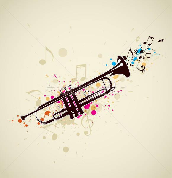音楽 トランペット 明るい 抽象的な ノート デザイン ストックフォト © Artspace