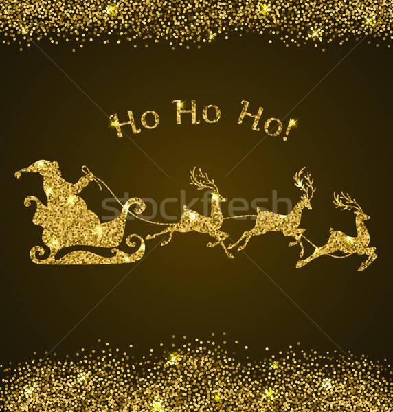 Card with golden Santa Claus Stock photo © Artspace