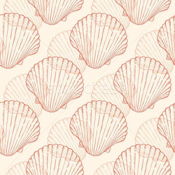 Zee schelpen vector vintage zeevruchten Stockfoto © Artspace