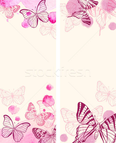 Vertical banners with butterflies Stock photo © Artspace